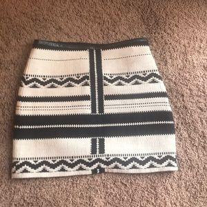 Madewell Black & White Skirt